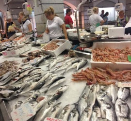 Fish market in Croatia